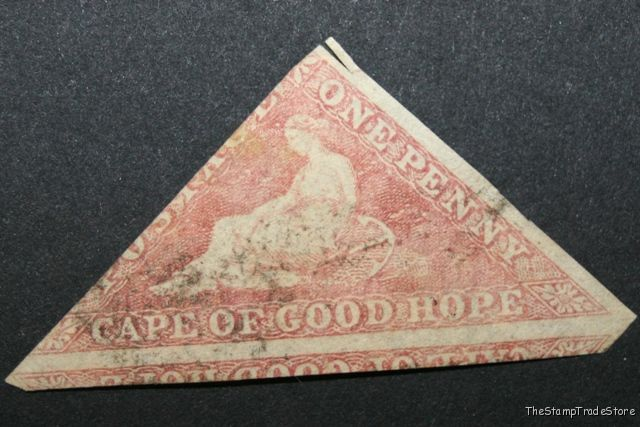 Cape of Good Hope triangular stamp Sg5 brick red c29