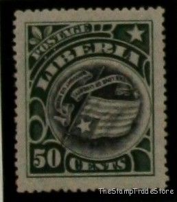 Inverted Center Stamp Liberia sc109b flag 1906