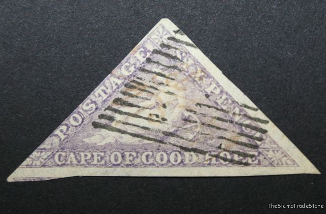Cape of Good Hope Triangular Stamp 6d 1863-64