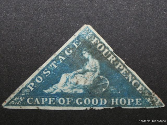 Cape of Good Hope triangular stamp Sg6a blue c47