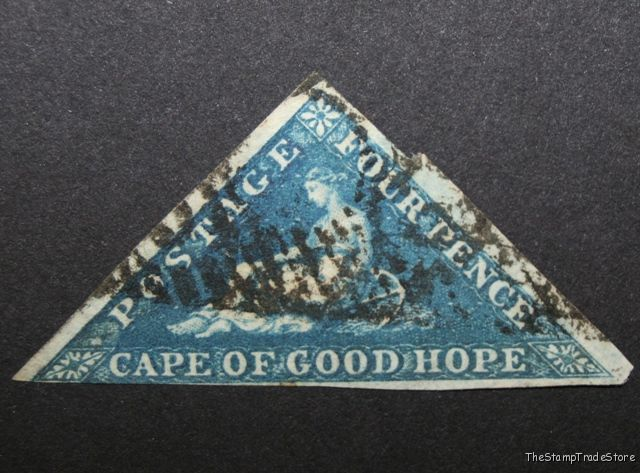 Cape of Good Hope triangular stamp Sg4 deep blue c48