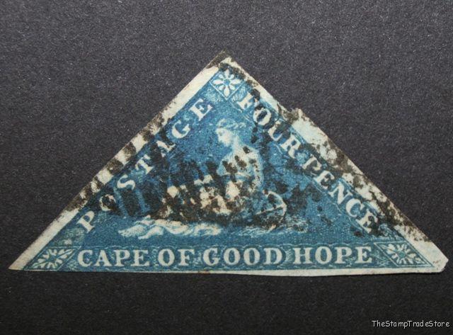 Cape of Good Hope triangular stamp Sg4 deep blue c48