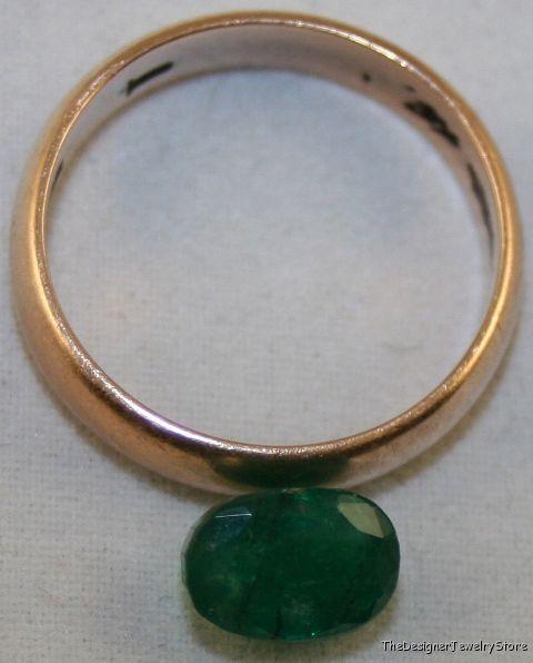 Natural Emerald 6x8 oval 1.75ct native cut A gem em7