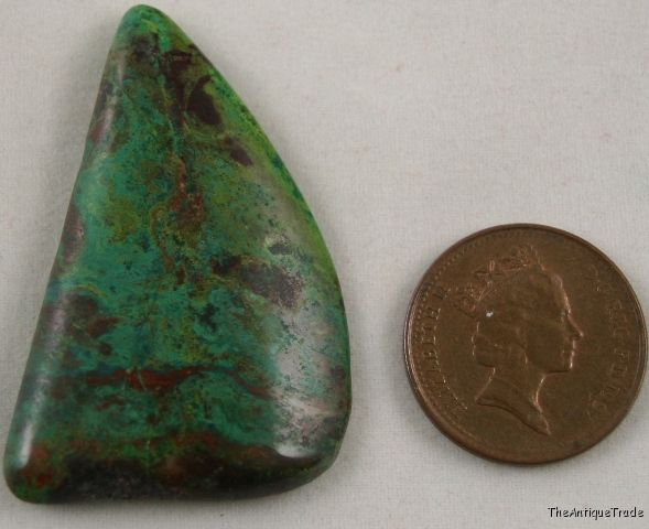 Chrysocolla Arizona 25x42 free form cabochon gem sa5
