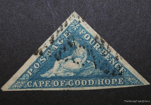Cape of Good Hope triangular stamp Sg4a blue c12