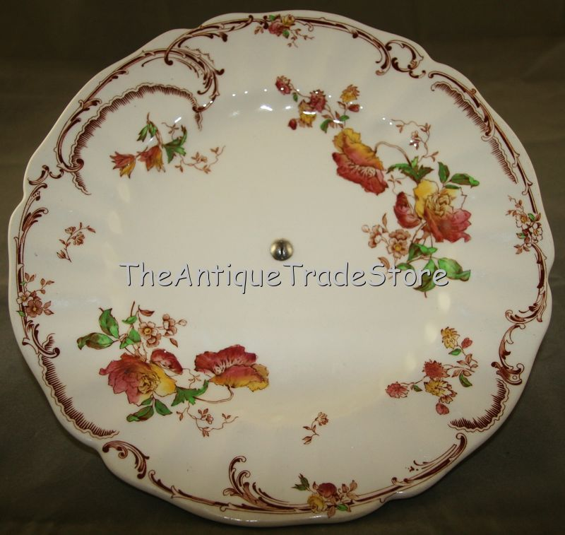30s Royal Doulton porcelain Art Deco footed plate