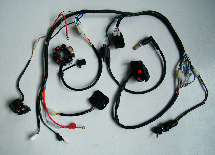 complete electrics atv quad 200cc 250cc cdi wire harness zongshen categories