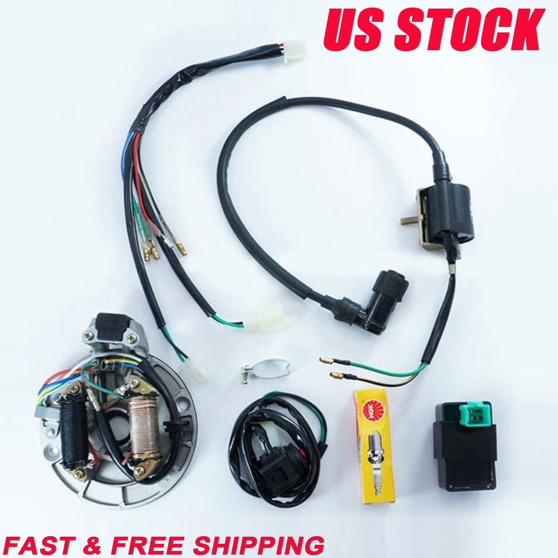 all electrics cc wire harness cdi coil stator all electrics 50 110 125cc 140 wire harness cdi coil stator magneto dirt bike a2