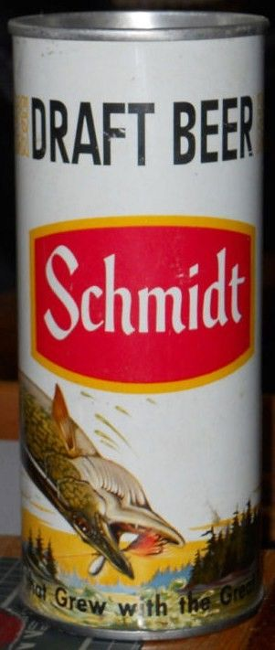 Schmidt Senic Draft Beer Northern Fish Zip pull 16 oz Can