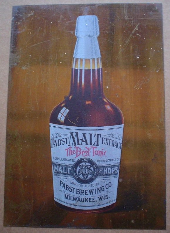 1890s Pabst Malt Tonic Tin Sign