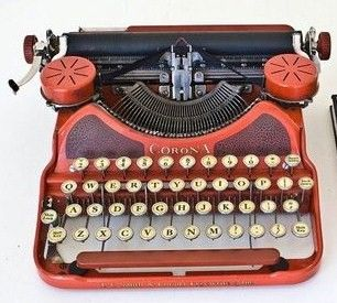 1924 Red corona Typewriter