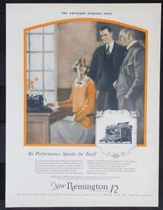 Remington Debut Standard 12 Typewriter Ad