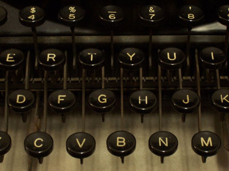 1930s Portable Underwood Noiseless Typewriter Keys Close Up