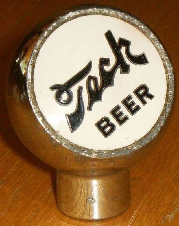1930s Tech Beer Chrome Ball Tap Knob from Pennsylvania