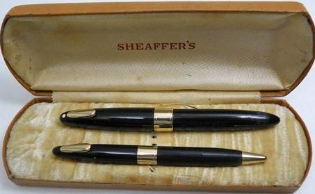1940's Sheaffer Tuckaway Fountain Pen/Pencil set 14K Gold Nib