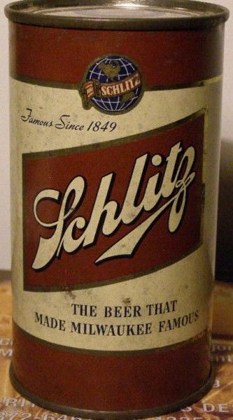 1949 Schlitz Flat Top Beer Can Front