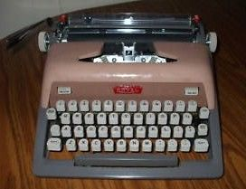1950's Pink Royal Futura 800 typewriter