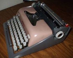 1950s Pink royal Futura 800 Typewriter Keys