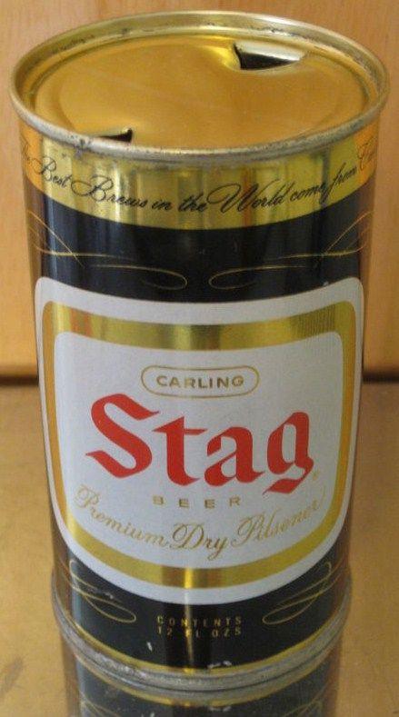 1950s Stag Flat Top Beer Can Belleville Illinois