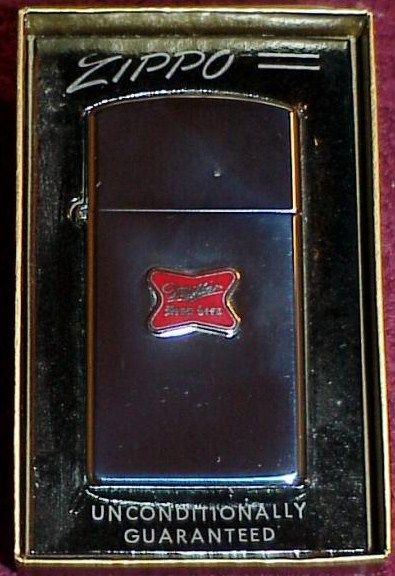 1950s Zippo Miller High Life Beer Lighter in Box