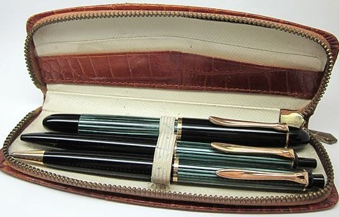 1952 Pelikan Set 140 Dountain Pen 350 MP-355 BP 14K 585 OB