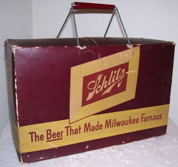1952 Schlitz Beer Picnic Carrier JOS Brewing Milwaukee, Wisconsin