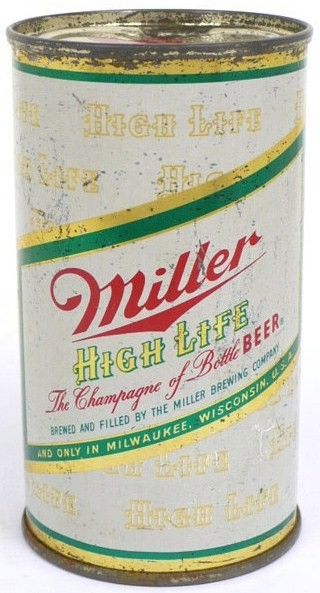 Medium Label Miller High Life Flat Top Can 1956