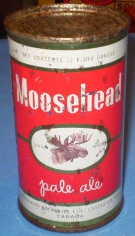 1959 Moosehead St John, NB Flat Top Steel Beer Can
