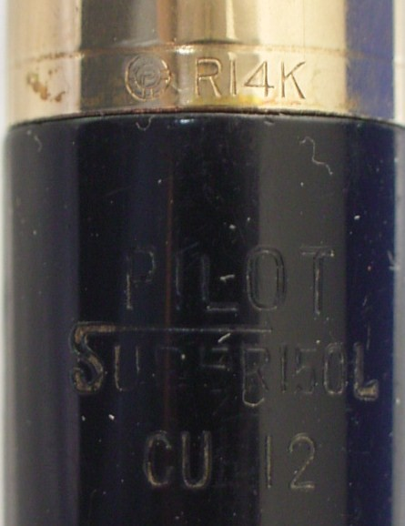 1960s Pilot Fountain Pen Embossing s Close Up View