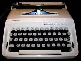 Retro Remington Ten-Forty Typewrier w/Cursive Type Font