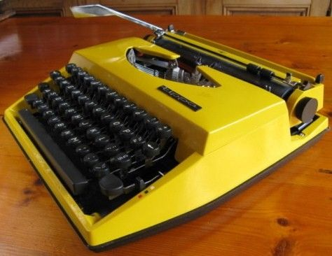 1970s Adler Tippa Typewriter Yellow