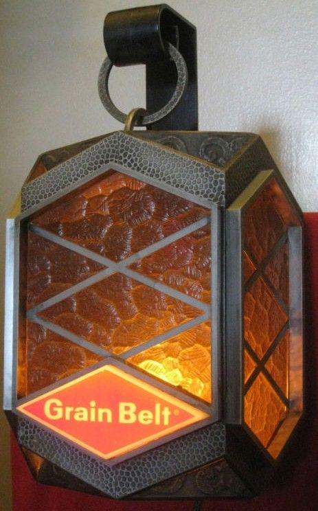 1970s Grain Belt Beer Light Up Lantern
