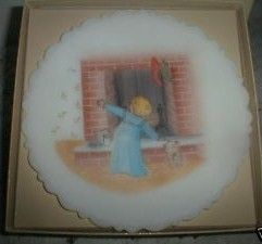 1984 Fenton Christmas Fantasy Series Hand Painted Plate