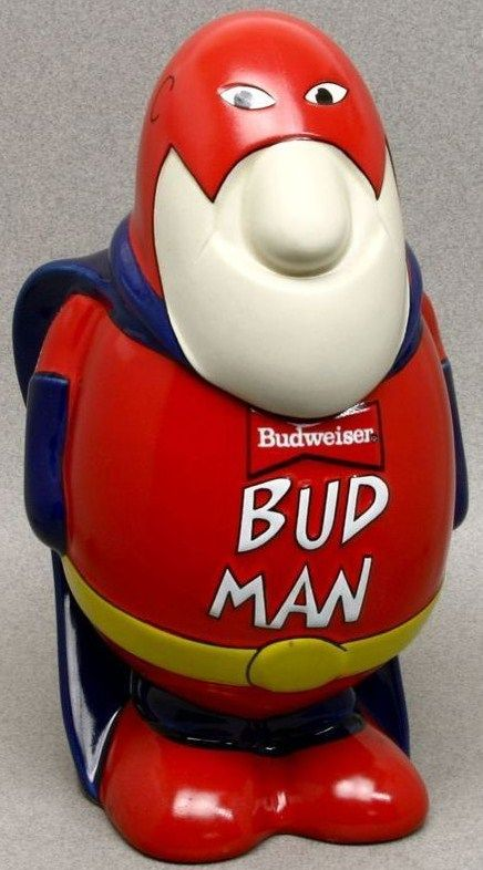 1989 Bud Man Ceramic Beer Stein by Ceramate Brazil