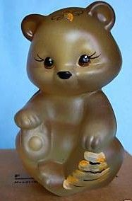 Fenton QVC Honey Bee Bear Figurine 2009