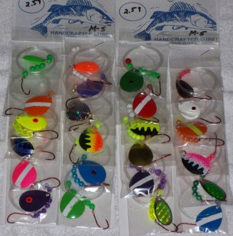 Lot of 24 New Lures/Worm Harness Leech/Minnow/Spinner
