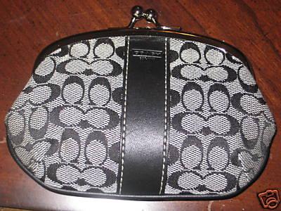 Signature framed coin purse black-white