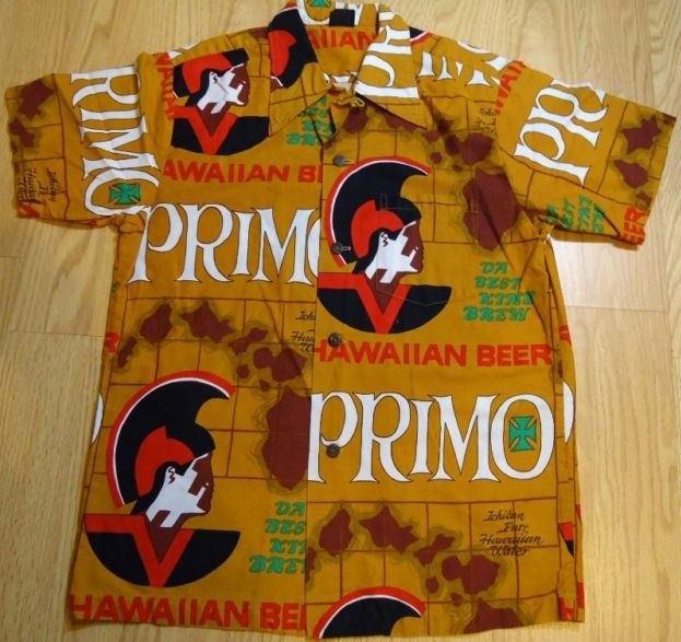 1960's Primo Beer Hawaiian Shirt Aloha Tiki