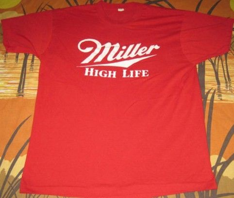 80's Miller High Life American Racing T Shirt