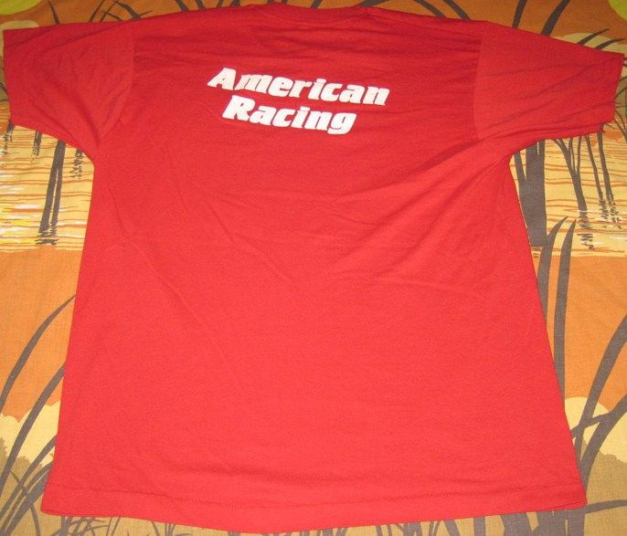 Back View 1980's Miller High Life American Racing Red Tee Shirt
