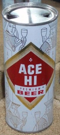 Ace Hi Premium Beer Flat Top Can Graphic Poker Chicago