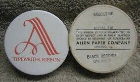 Allen Typewriter Ribbon Tin