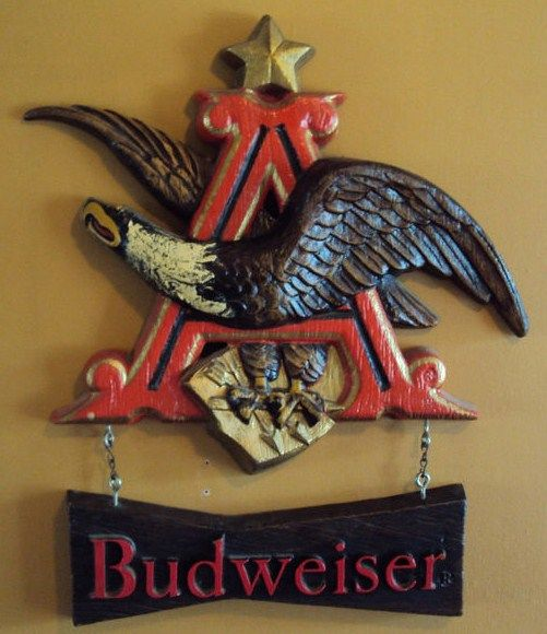 Anheiser Busch Vintage Budweiser Beer Eagle Wall Hanging