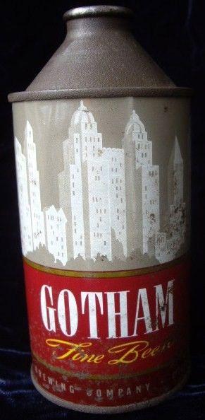 Antique Gotham Cone Top Beer Can Cincinnati Brewing Co.