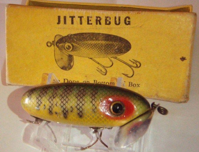 Arbogast Vintage Wood Jitterbug with Box