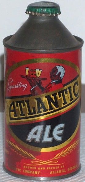 Atlantic Ale Cone Top Beer Can with Cap