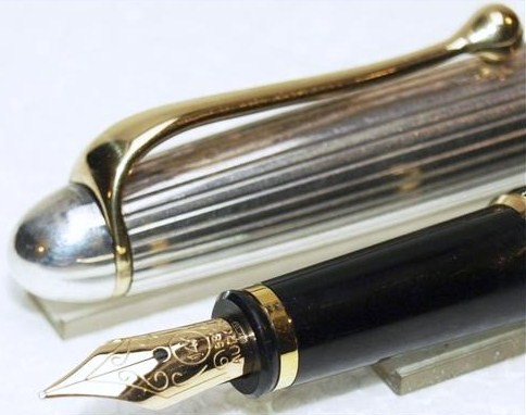 Aurora 88 Sterling Silver Cap Fountain Pen