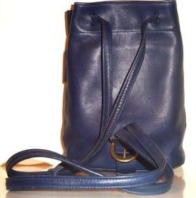 Coach Blue LEather Backpack Vintage Purse