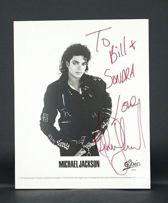 Authentic signed Michael Jackson autographed picture