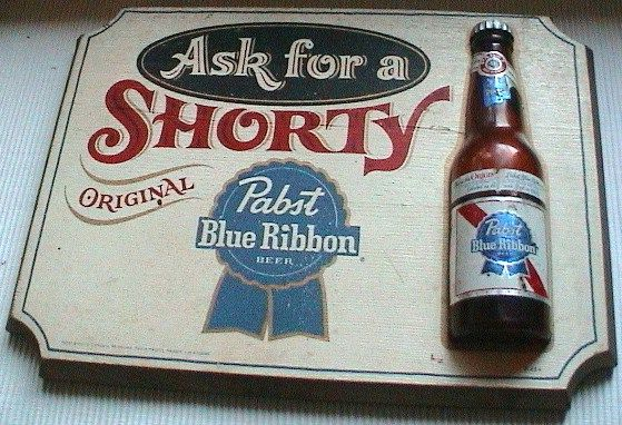 Advertising Vintage Pabst Beer Sign Plaque 3D Wood